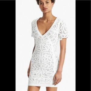 French connection white summer dress size 4